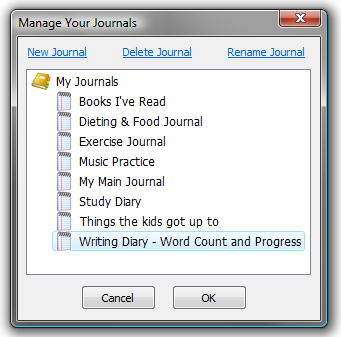 Manage Your Journals